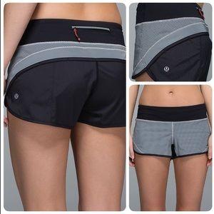 Lululemon Speed Up Shorts Black Reflective Silver